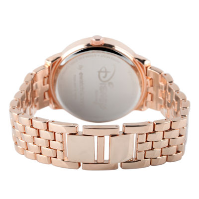 Disney Sleeping Beauty Womens Rose Goldtone Bracelet Watch-W001827