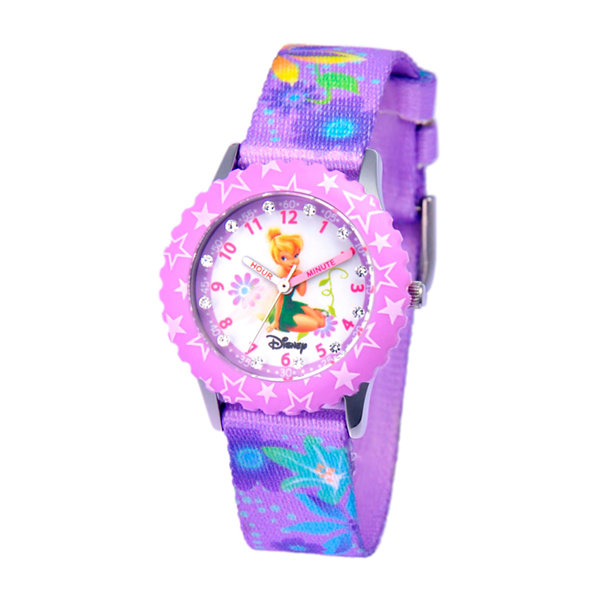 Disney Tinker Bell Girls Purple Strap Watch-W000277