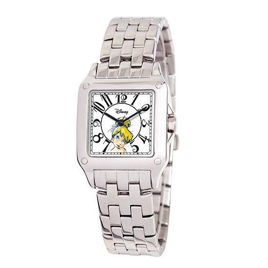 Disney Tinker Bell Womens Silver Tone Bracelet Watch-W000472