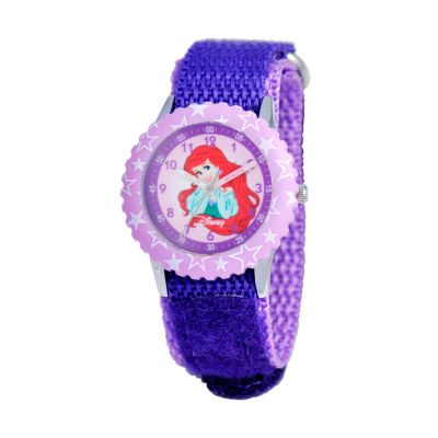Disney The Little Mermaid Girls Purple Strap Watch-W000963