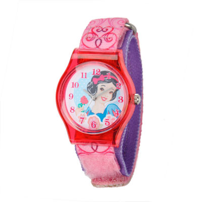 Disney Snow White Girls Pink Strap Watch-W001966