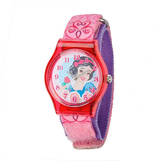 Disney Snow White Girls Pink Strap Watch W001966
