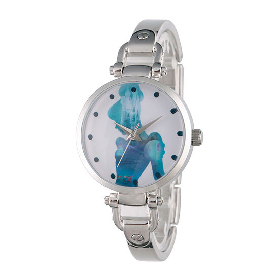 Disney Collection Cinderella Womens Silver Tone Stainless Steel Bracelet Watch-Wds000073