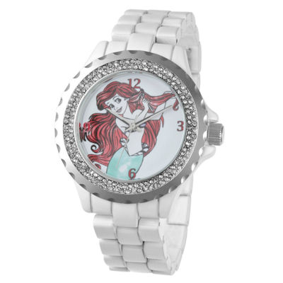 Disney The Little Mermaid Womens White Bracelet Watch-W001816