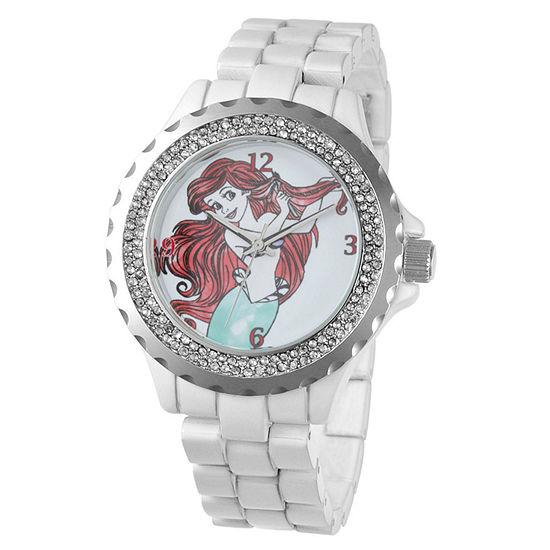Disney The Little Mermaid Womens White Bracelet Watch - W001816