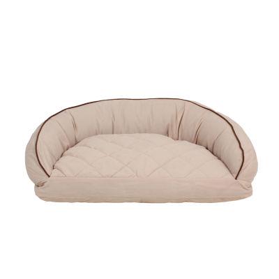 Carolina Pet Company Microfiber Semi Circle Lounge Bolster Dog Bed