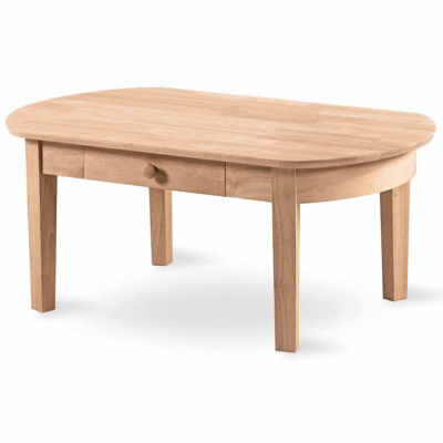 Philips Oval 1-Drawer Coffee Table