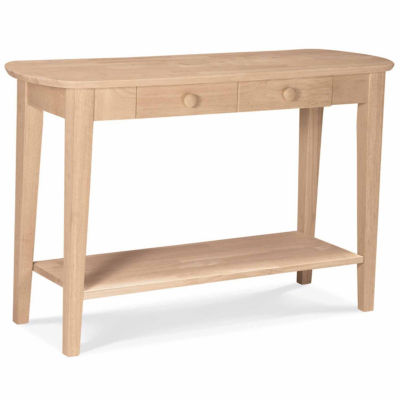 Philips Oval Sofa 1-Drawer Console Table