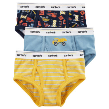 Carter's 3 Pair Briefs-Toddler Boys