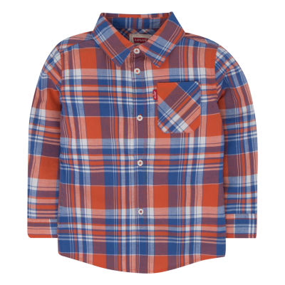 Levi's® ™ Long Sleeve Plaid Shirt Toddler Boy