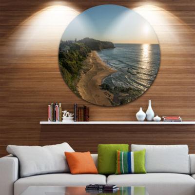 Design Art Clam Sea Waters at Sydney beach Large Seashore Metal Circle Wall Art