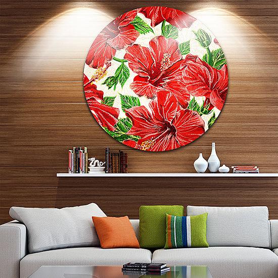 Design Art Seamless Hibiscus Flowers Pattern UltraGlossy Floral ...