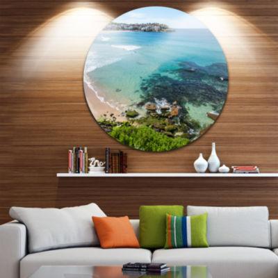 Design Art Expansive Sydney Bondi Beach Large Seashore Metal Circle Wall Art
