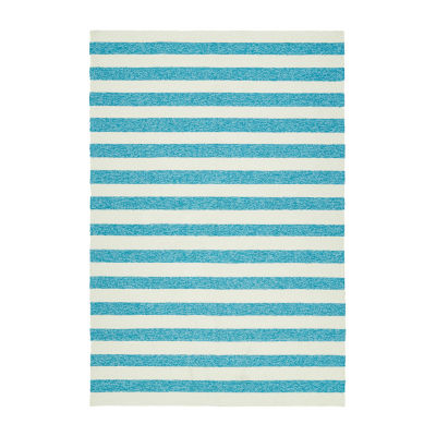 Kaleen Escape Cabana Stripe Rectangular Indoor/Outdoor Rug