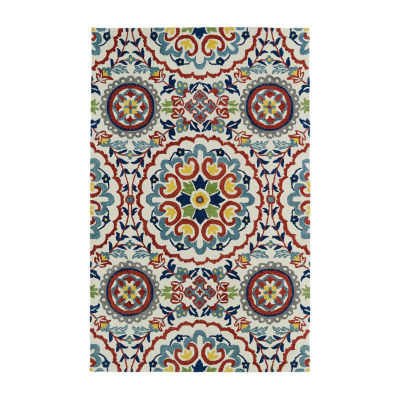 Kaleen Global Inspiration Suzani Rectangular Rug