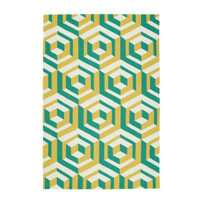 Kaleen Escape Mosaic Rectangular Indoor/Outdoor Rug