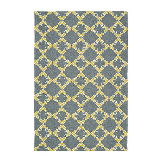 Kaleen Escape Trellis Tiles Rectangular Indoor/Outdoor Rug