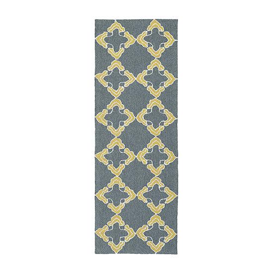 Kaleen Escape Trellis Tiles Rectangular Indoor/Outdoor Rug