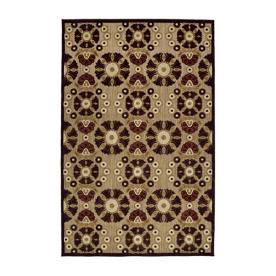 Kaleen Breath of Fresh Air Panel Suzani Rectangular Indoor/Outdoor Rug