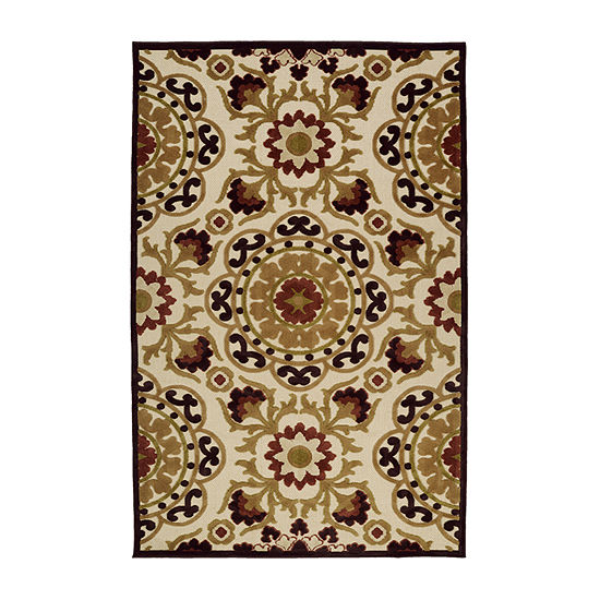 Kaleen Breath of Fresh Air Suzani Rectangular Indoor/Outdoor Rug