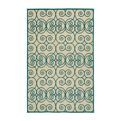Kaleen Breath of Fresh Air Swirlies Rectangular Indoor/Outdoor Rug