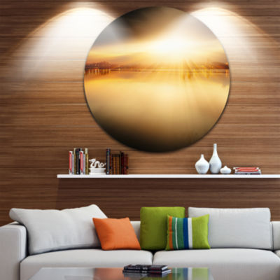 Design Art Sunset with Views on the Lake Extra Large Wall Art Landscape