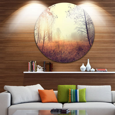Design Art Charming Rural Field in Morning Extra Large Wall Art Landscape