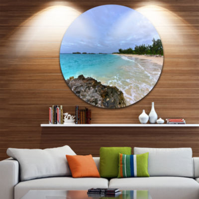 Design Art Clearwater Beach Bermuda Oversized Beach Metal Circle Wall Art