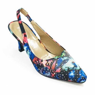 Whittall & Shon Womens Monet Pumps Soft Toe Cone Heel