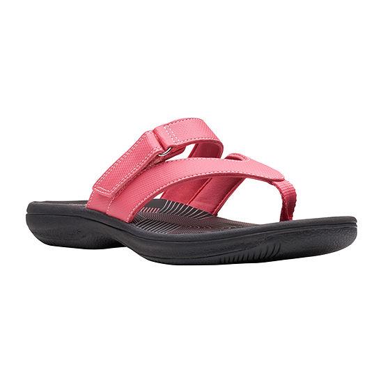 Clarks Womens Brinkley Marin Flip-Flops