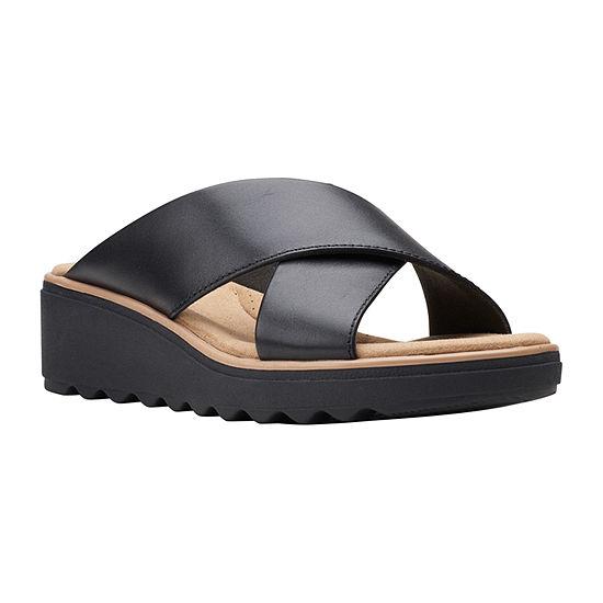 Clarks Womens Jillian Gem Slide Sandals