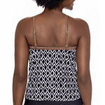 Sonnet Shores Geometric Tankini Swimsuit Top