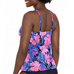 Sonnet Shores High Neck Floral Tankini Swimsuit Top