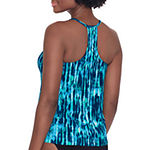Trimshaper Abstract Tankini Swimsuit Top