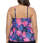 Sonnet Shores High Neck Floral Tankini Swimsuit Top Plus