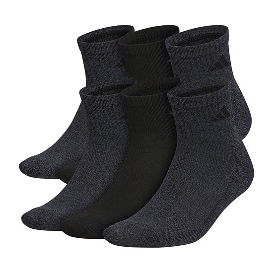 adidas 6 Pair Quarter Socks-Mens