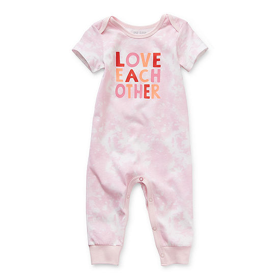 Okie Dokie Baby Girls Short Sleeve Jumpsuit