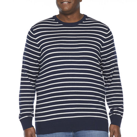 The Foundry Big & Tall Supply Co. Crew Neck Long Sleeve Knit Pullover Sweater, Large Tall , Blue