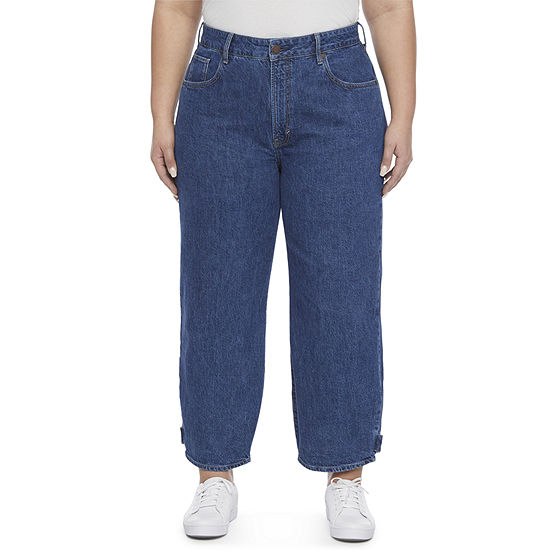 a.n.a Plus Womens High Rise Loose Fit Jeans