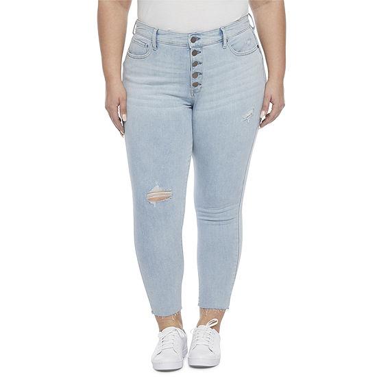 a.n.a - Plus Womens High Rise Skinny Ankle Jean