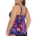 Trimshaper Tankini Swimsuit Top Plus