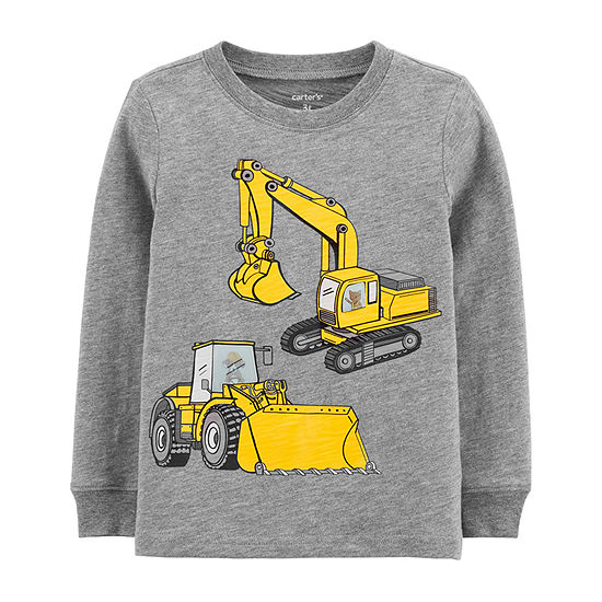 Carter's Toddler Boys Crew Neck Long Sleeve Graphic T-Shirt
