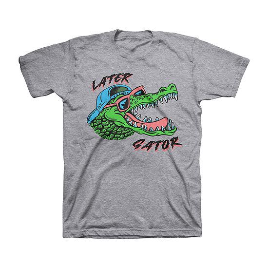 Later Alligator Little & Big Boys Crew Neck Short Sleeve Graphic T-Shirt