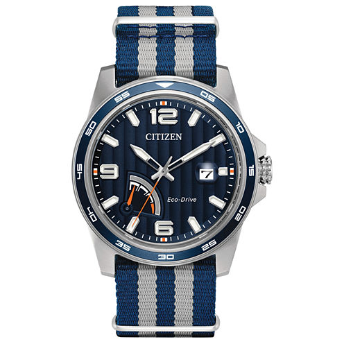 Citizen Mens Blue Strap Watch-Aw7038-04l