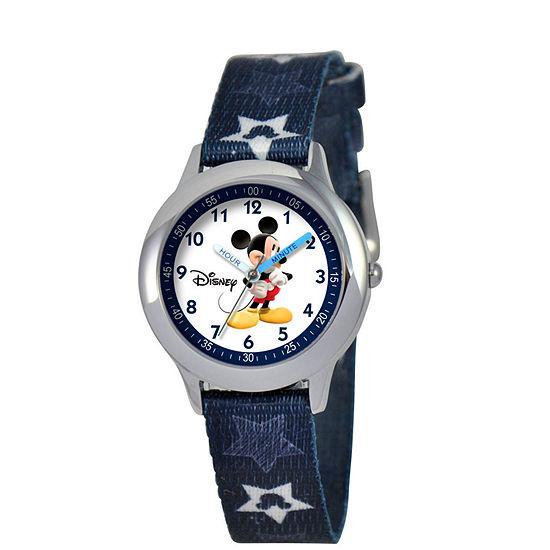 Disney Mickey Mouse Boys Blue Strap Watch-W000015