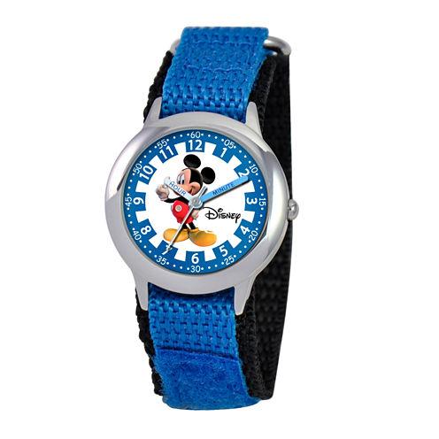 Disney Mickey Mouse Boys Blue Strap Watch-W000017
