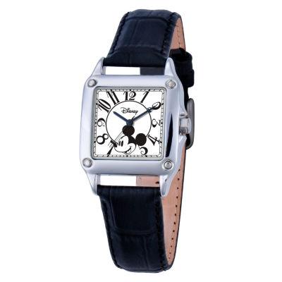 Disney Mickey Mouse Womens Black Strap Watch-W000464