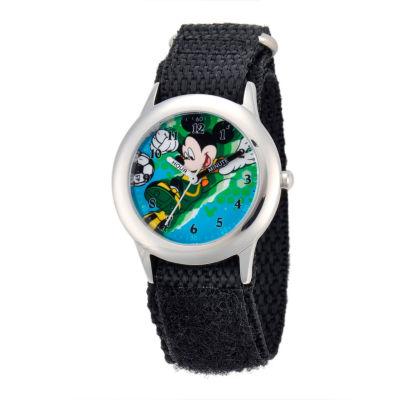 Disney Mickey Mouse Boys Black Strap Watch-W001572