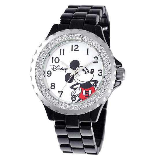 Disney Mickey Mouse Womens Black Bracelet Watch-W001637