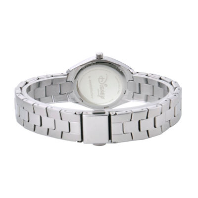 Disney Mickey Mouse Womens Silver Tone Bracelet Watch-W001906